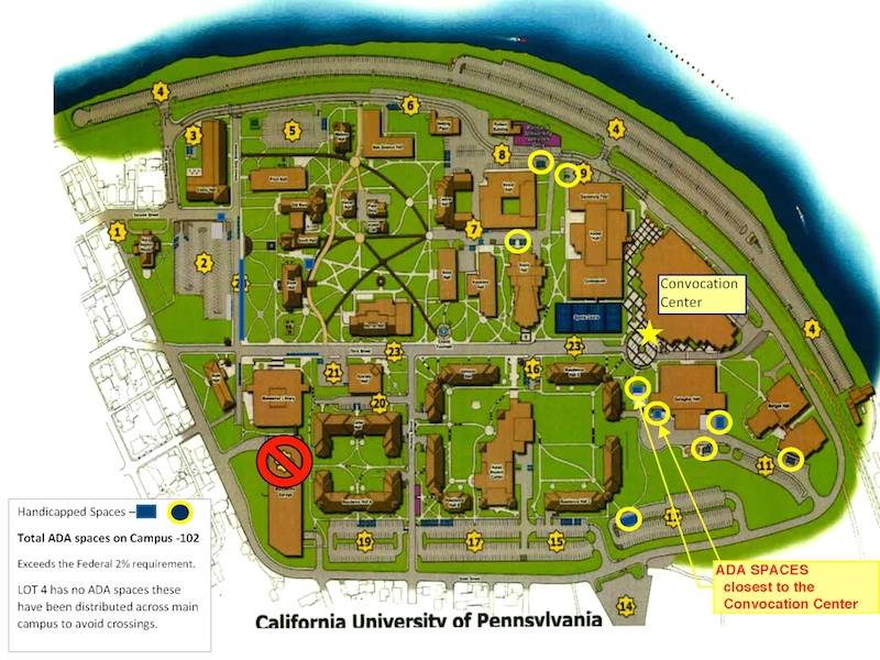 California University Pennsylvania Campus Map