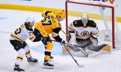 Pittsburgh Penguins Anthony Angello, Boston Bruins