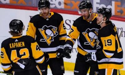 Pittsburgh Penguins Jeff Carter, Kasperi Kapanen, Jared McCann