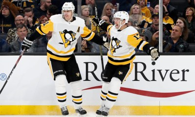 Pittsburgh Penguins Bryan Rust and Evgeni Malkin