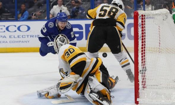 When will the NHL return? Pittsburgh Penguins Kris Letang, Matt Murray