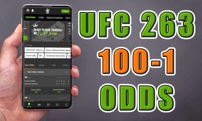 draftkings ufc 263 100-1 odds