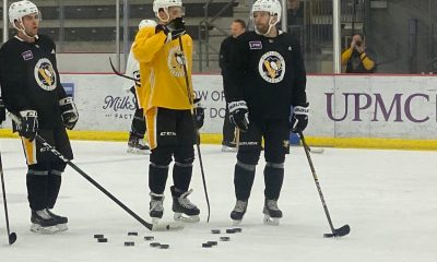 Pittsburgh Penguins Practice Bryan Rust, Brandon Tanev