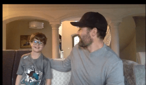 Pittsburgh Penguins winger Patrick Marleau on NHL video chat with son