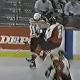 Pittsburgh Penguins Darius Kasparaitis hits Eric Lindros