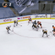 Pittsburgh Penguins screen shot vs. Philadelphia Flyers