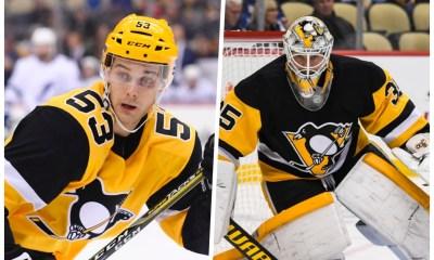 Pittsburgh Penguins Teddy Blueger, Tristan Jarry