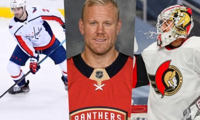 Former Pittsburgh Penguins Justin Schultz, Patric Hornqvist, Matt Murray