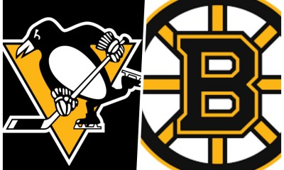 Pittsburgh Penguins vs. Boston Bruins logo