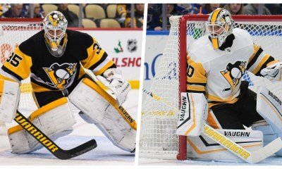 Pittsburgh Penguins Tristan Jarry (left) Matt Murray (right) Pittsburgh Penguins goalies