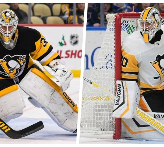 Pittsburgh Penguins Tristan Jarry (left) Matt Murray (right) Pittsburgh Penguins goalies