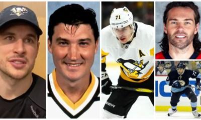 The Pittsburgh Penguins Sidney Crosby, Mario Lemieux, Evgeni Malkin, Jaromir Jagr, Alex Kovalev