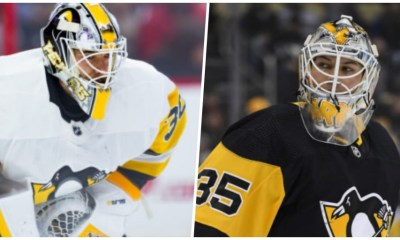 Pittsburgh Penguins goalies Matt Murray and Tristan Jarry