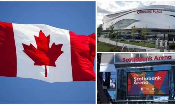 NHL hub cities Toronto and Edmonton