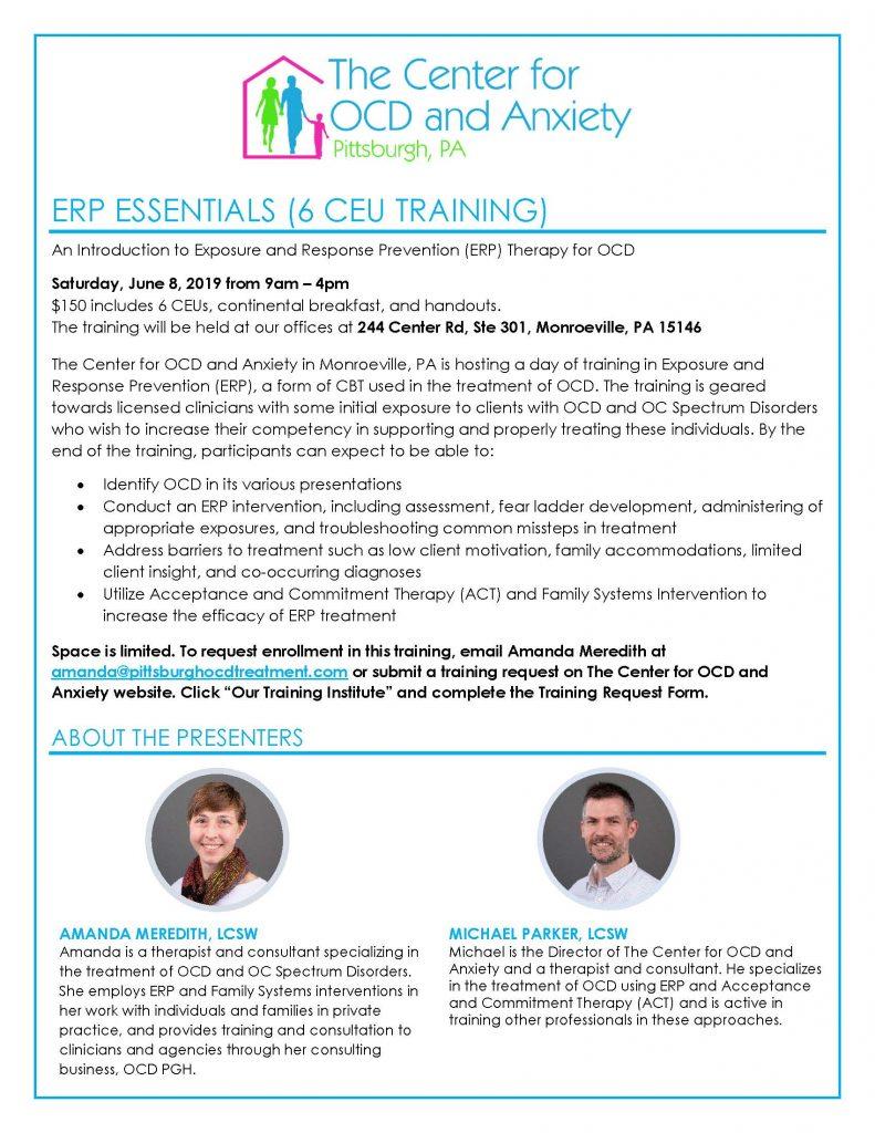 OCD ERP Training Pittsburgh