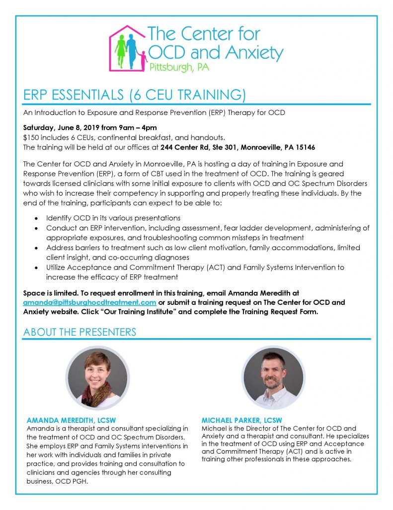 OCD ERP Training Pittsburgh