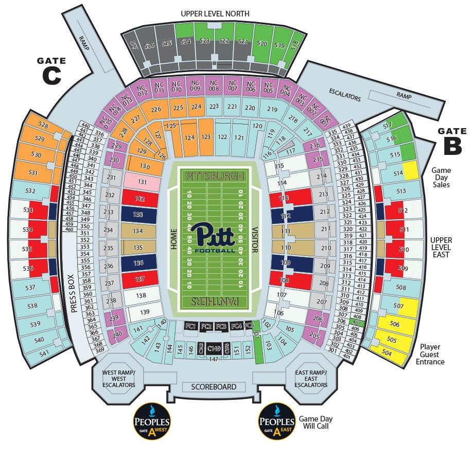 medium resolution of tickets heinz field seating