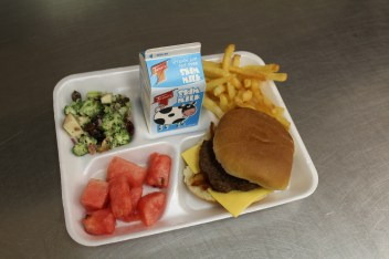 Delicious lunch during the spring at Allegheny Middle School