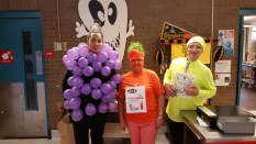 Denise Davis and her cafeteria staff dress up to encourage fruit and vegetable consumption