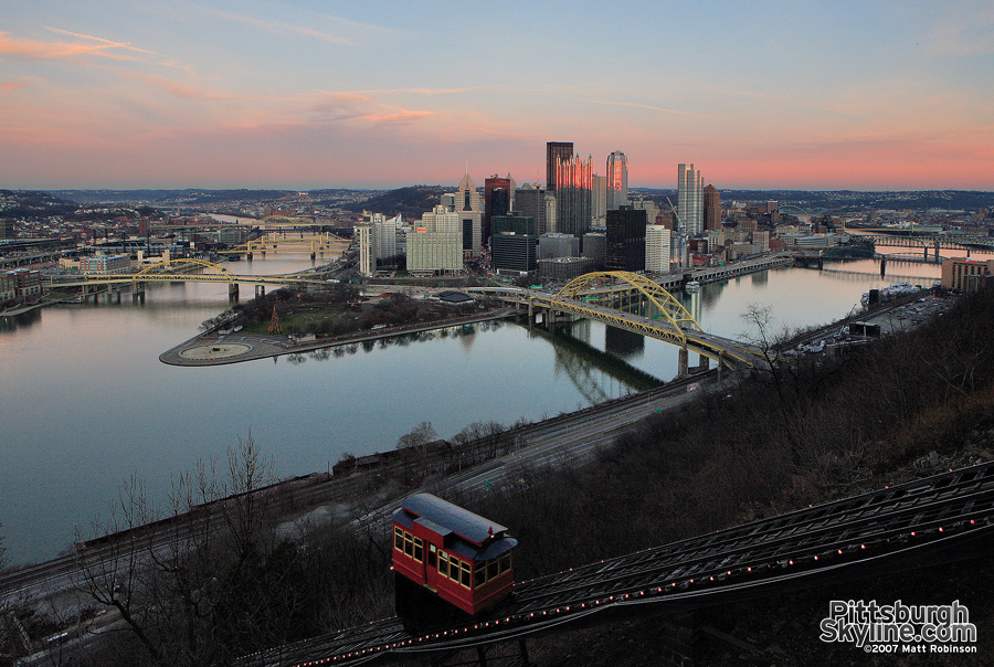 The point from the Duquesne Incline observation