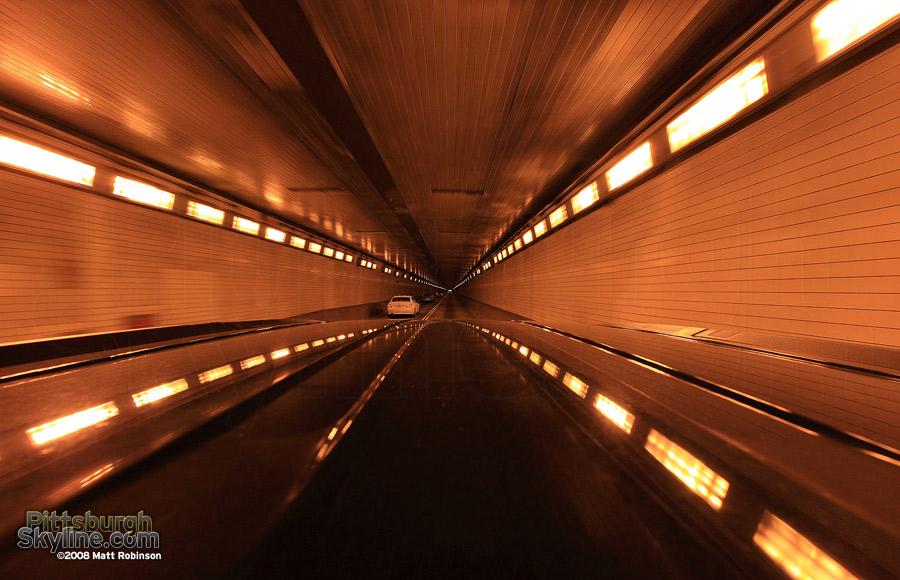 Inside the Fort Pitt Tunnel<br>