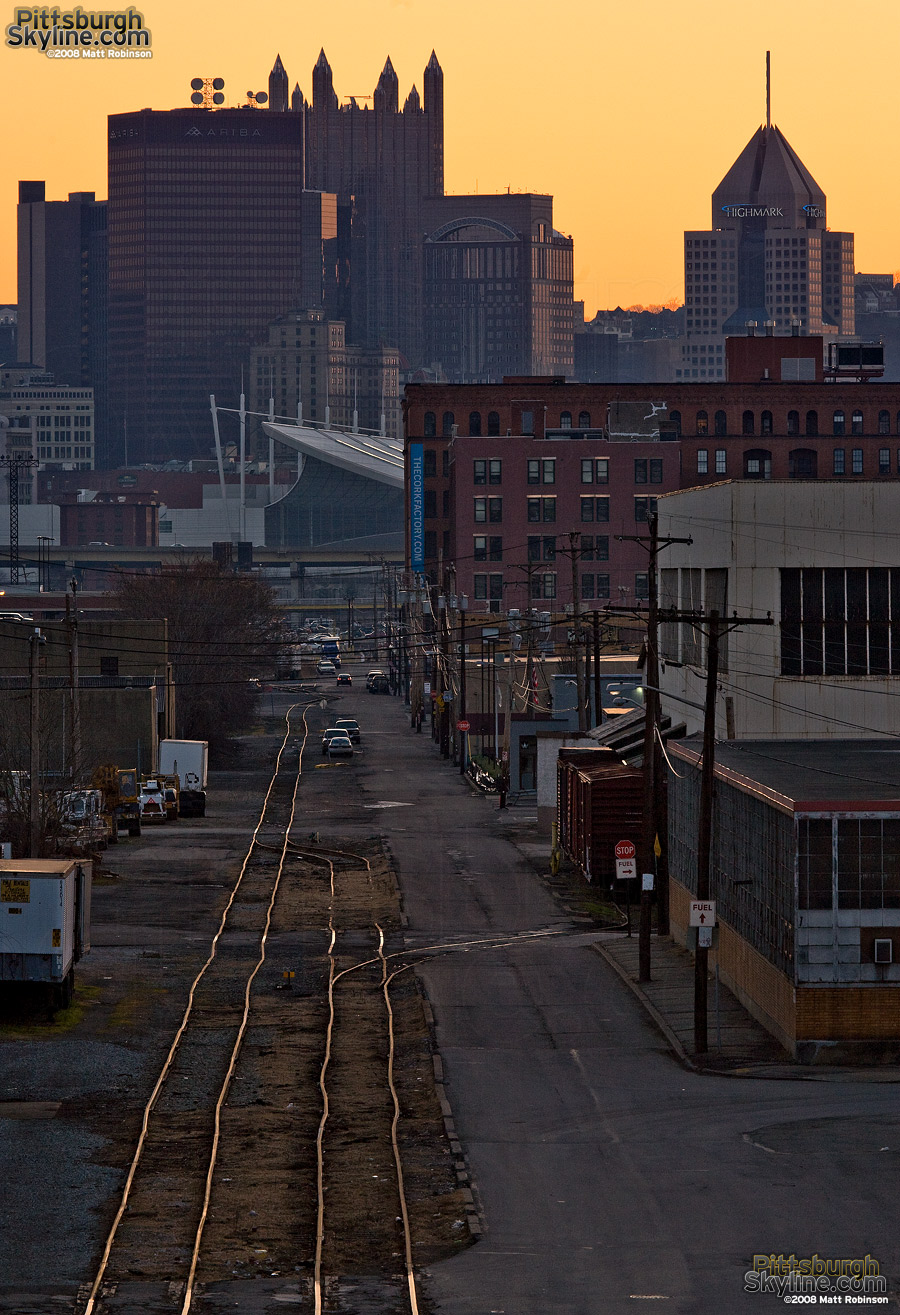 Crooked rails lead to downtown