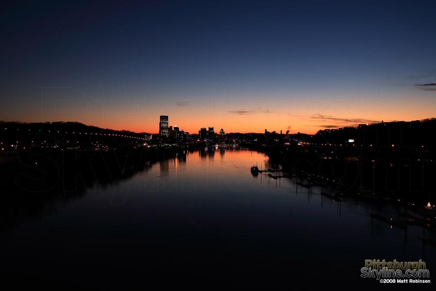 Last light of the sun from the 31st Street Bridge