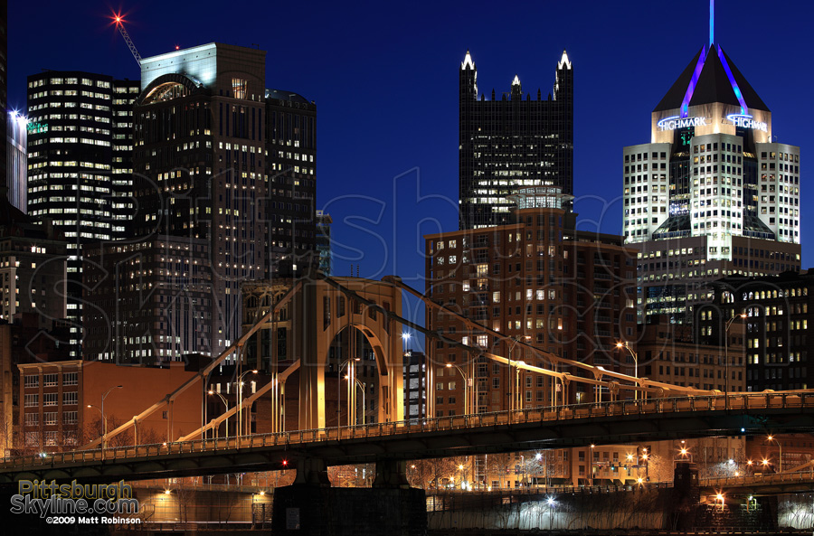 Downtown Pittsburgh and the 9th Street Bridge