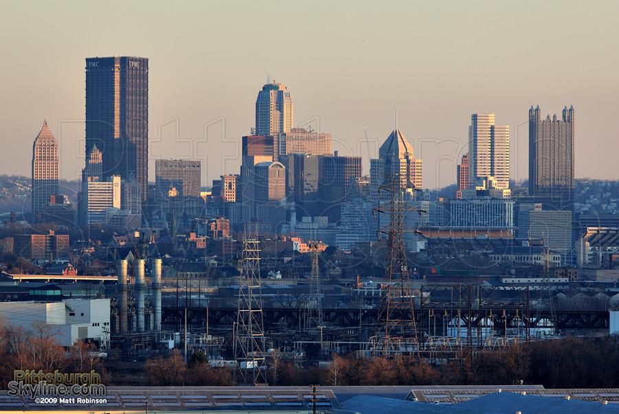 Pittsburgh Skyline from McKees Rocks