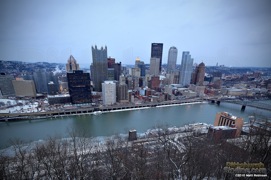 Winter from Mt. Washington, Pittsburgh