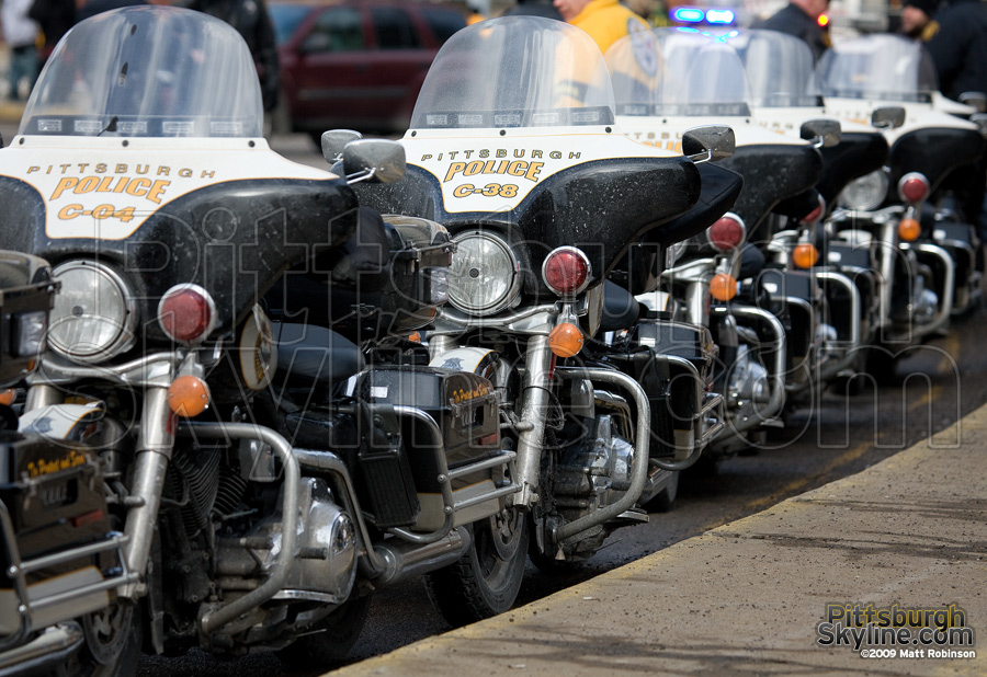Pittsburgh Police motorcycles