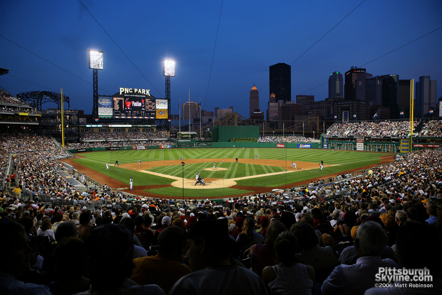 Evening game at PNC Park