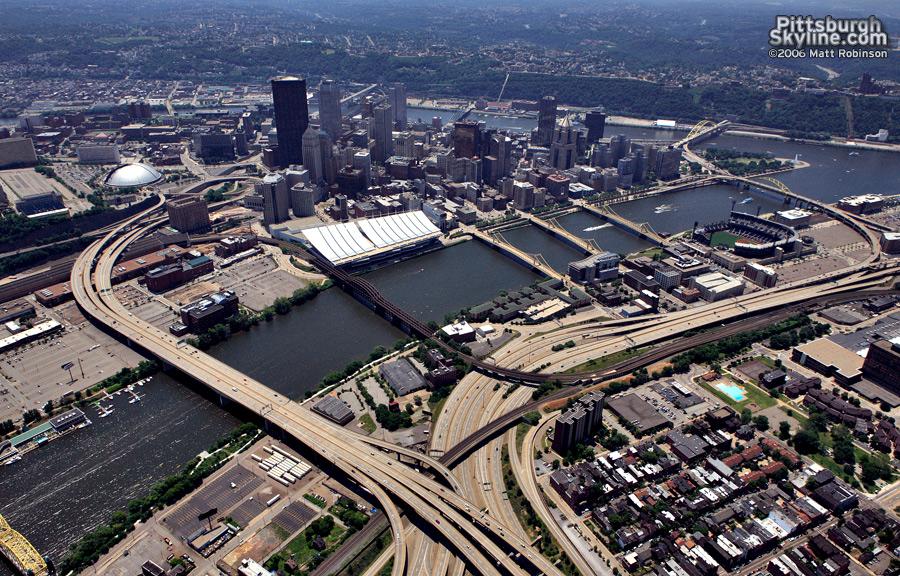 279 cuts through Allegheny City