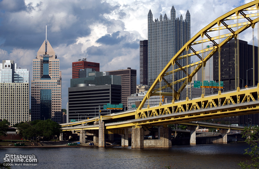 Fort Pitt Bridge and downtown