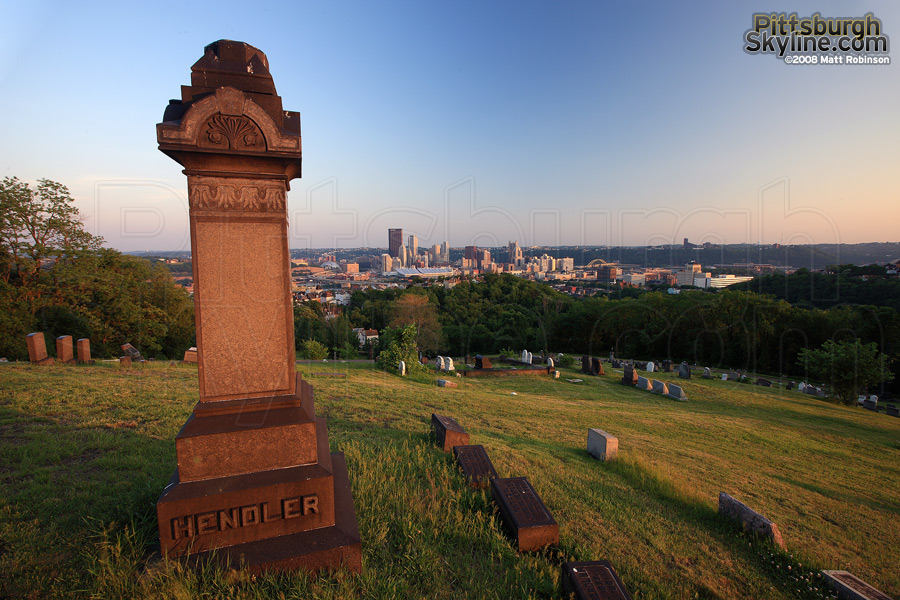 The treacherous trip to the Spring Hill Cemetery provides one of the best city views.