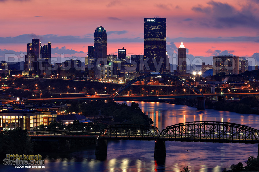 Pittsburgh Skyline from Greenfield