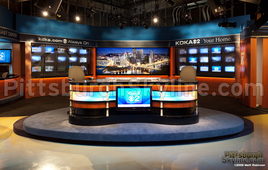 KDKA's new set with PittsburghSkyline.com nighttime duratans