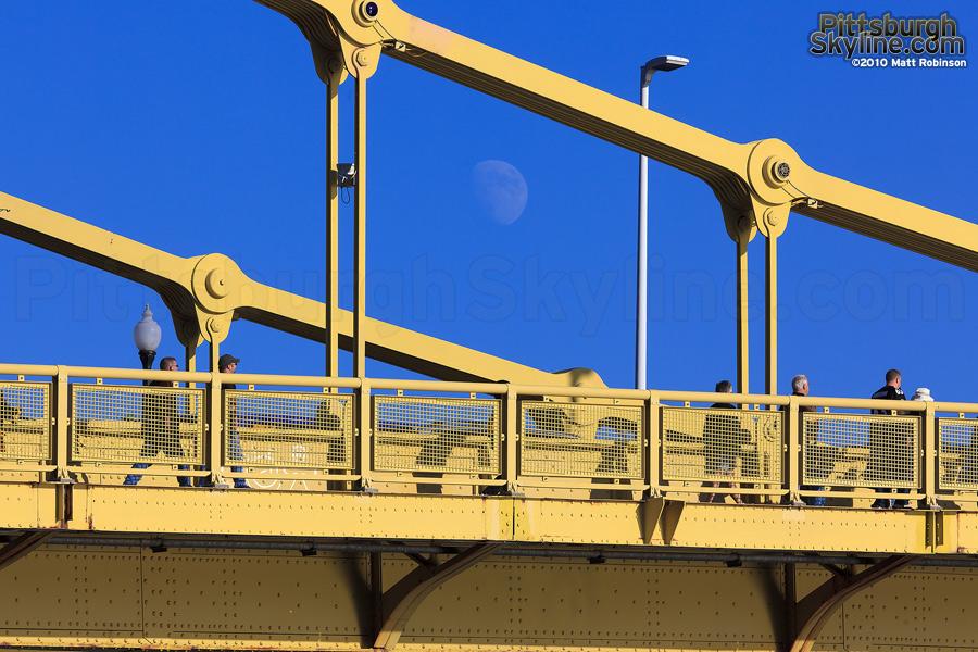 Moonrise over Clemente Bridge