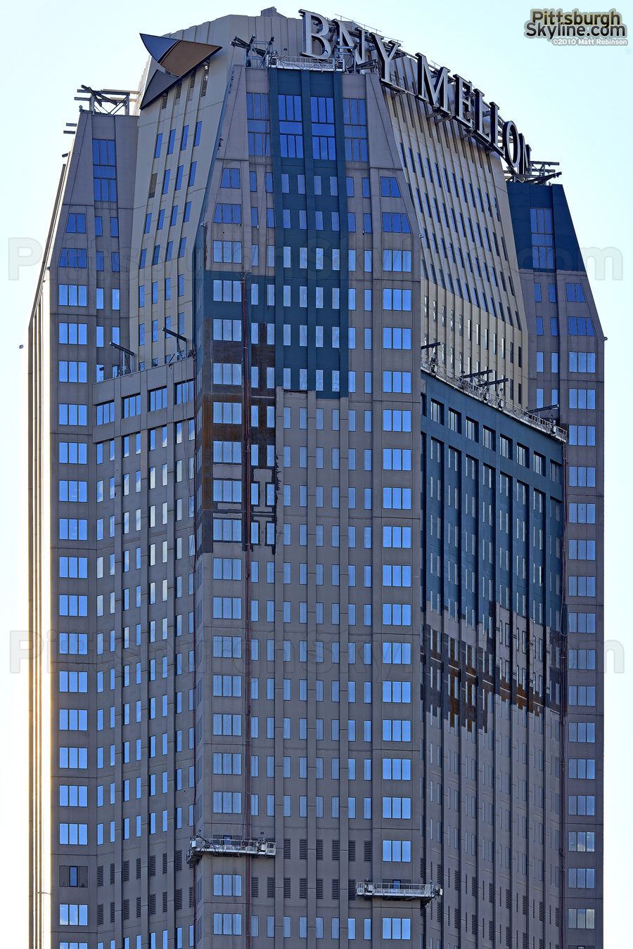 BNY Mellon Center gets new rooftop signage (along with a bronze paint job)