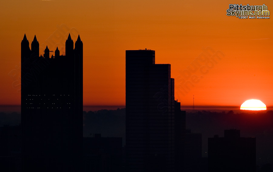 PPG and One Oxford Center Silhouette