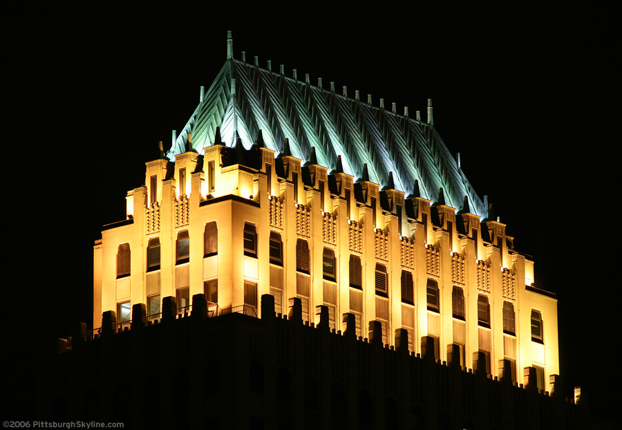 Koppers Building at night, Pittsburgh