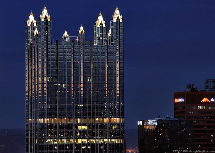 PPG Place at night