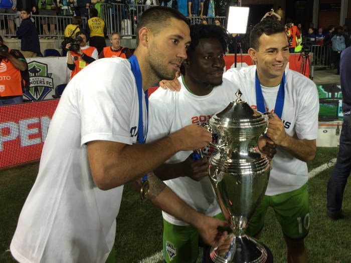 Clint Dempsey and the Seattle Sounders lifted the Cup in 2014.