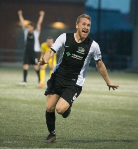 A magical season includes eight total goals in all competitions for Rob Vincent in 2015. (Photo Courtesy of Pittsburgh Riverhounds)