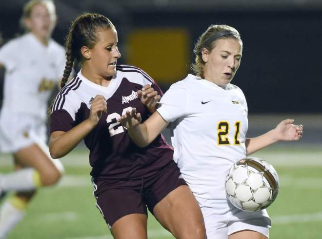 Montour girls soccer team won the WPIAL AA title in 2014.