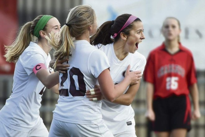 Greensburg Central Catholic won their fourth WPIAL Class A title in the past five years. (Photo Courtesy Pittsburgh Tribune-Review)