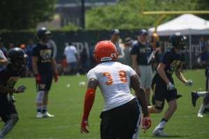 Lamont Wade at Pitt 7x7 camp