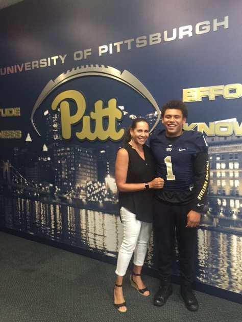 Connor Heyward at Pitt - Photo courtesy of Connor Heyward