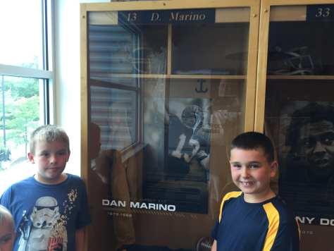 Ryan and Luke at Dan Marino's locker