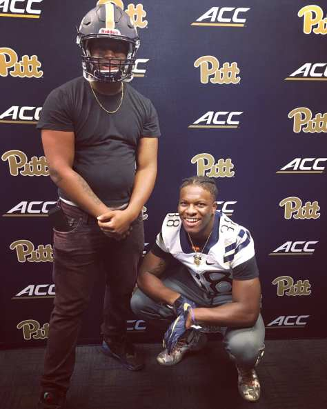 Lamont Wade at Pitt during the first day of training camp - Photo courtesy of Lamont Wade